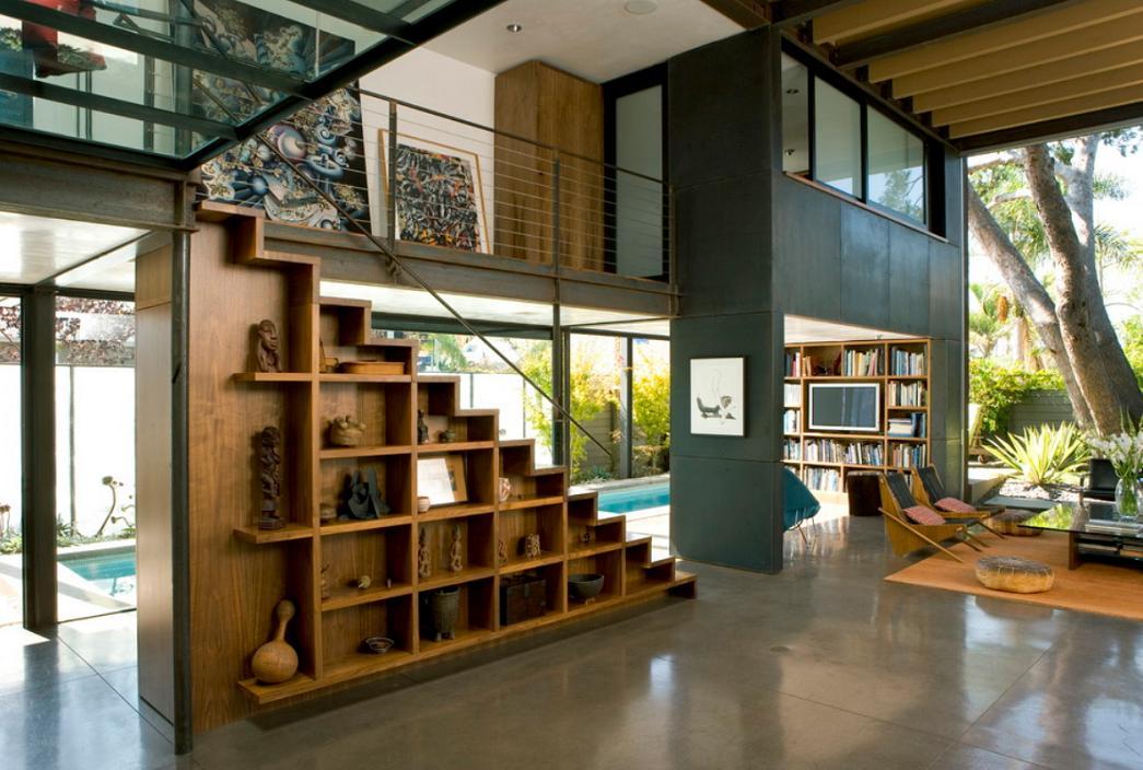 Imagine scara din lemn, Palms Residence, Ehrlich Architects