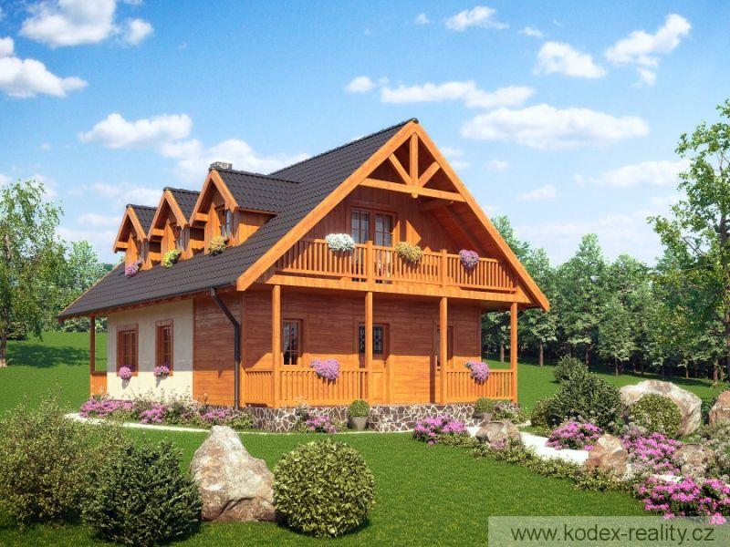 Casa cu prispe din lemn