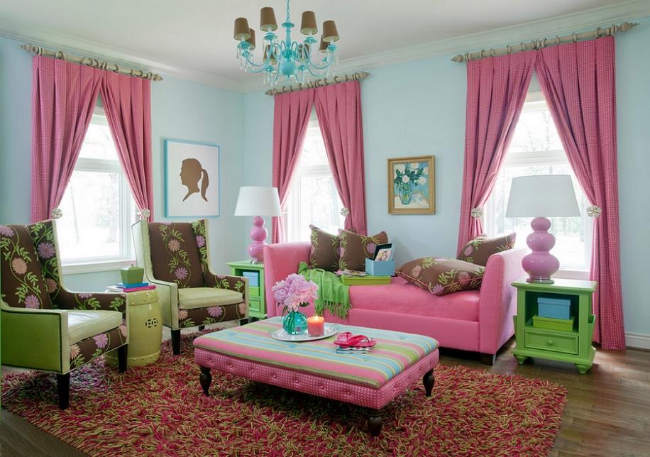 Culori indraznete pentru un living plin de viata si buna dispozitie