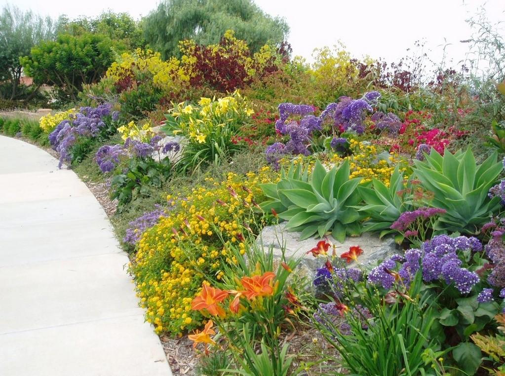 Gradina mediteraneana cu flori