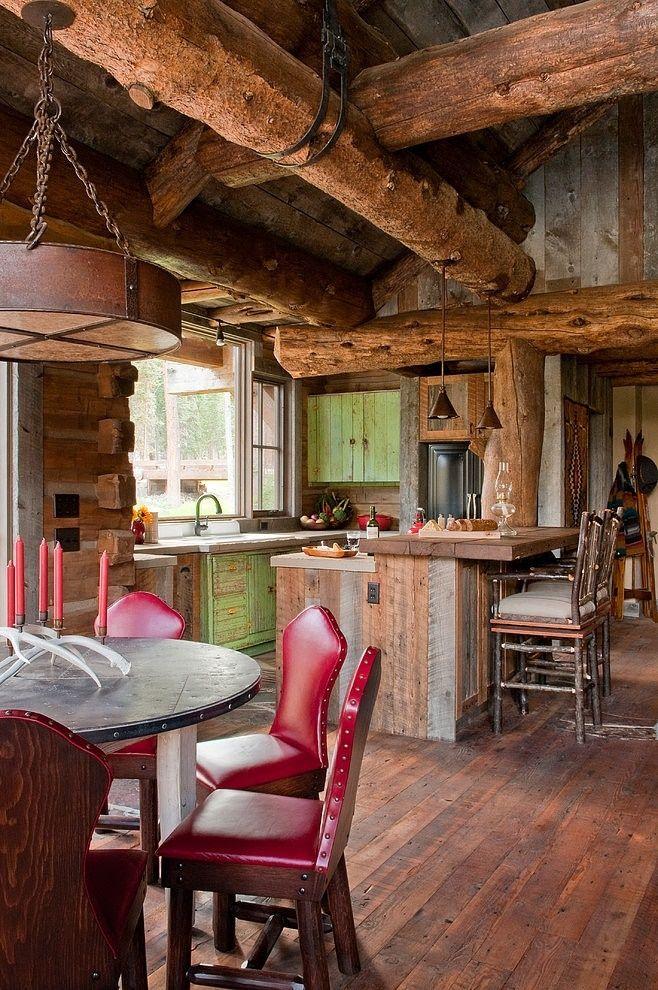 Sufragerie cabana rustica din lemn