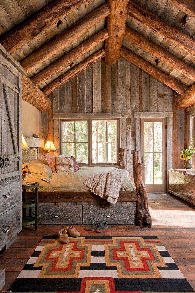 Imagini dormitor rustic