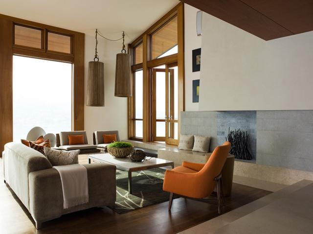Imagine amenajare living Hillside Residence, Sutton Suzuki Architects