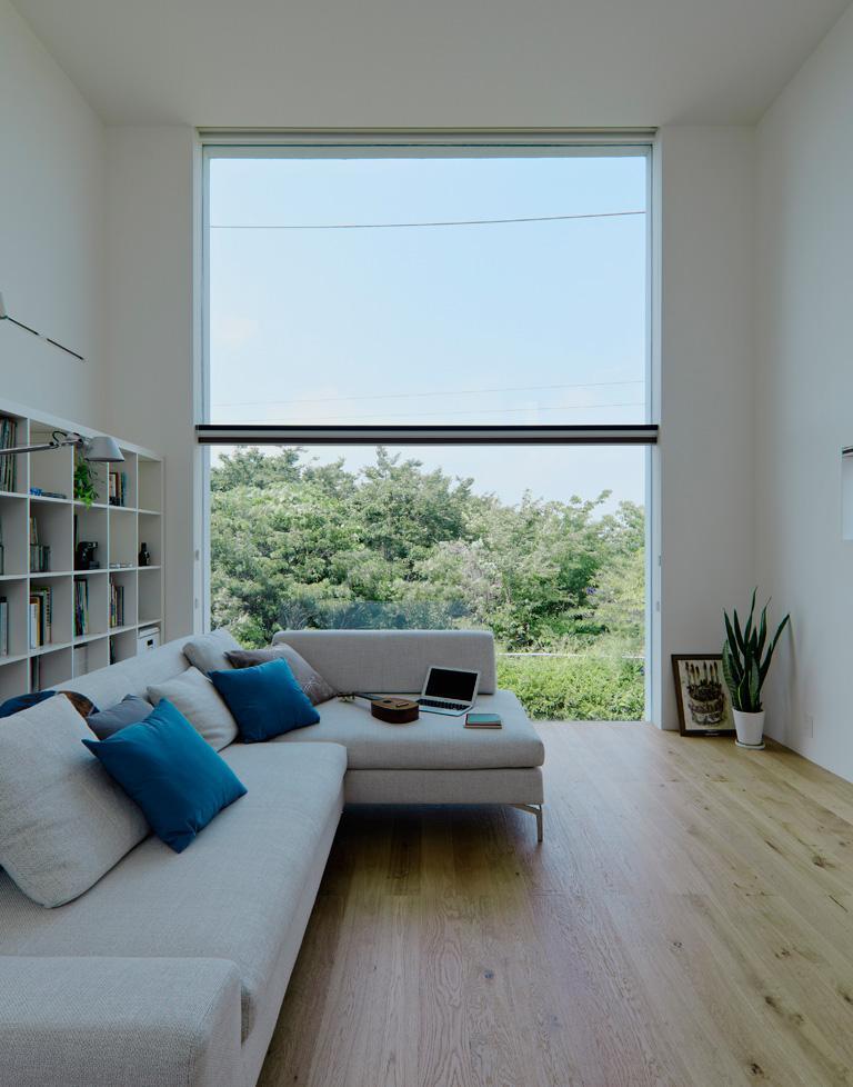 Imagine amenajare living - resedinta in Hiyoshi, EANA
