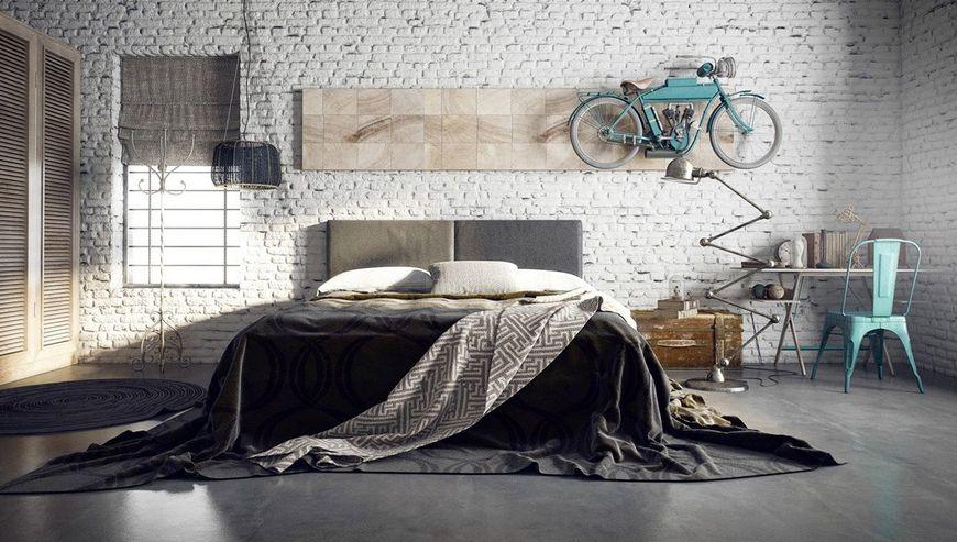 Amenajarea unui dormitor industrial minimalist