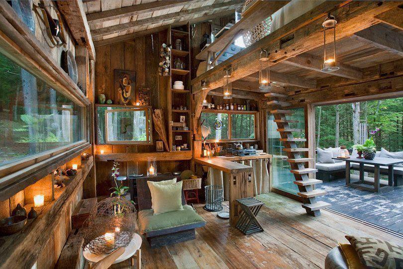 Design interior case moderne din lemn