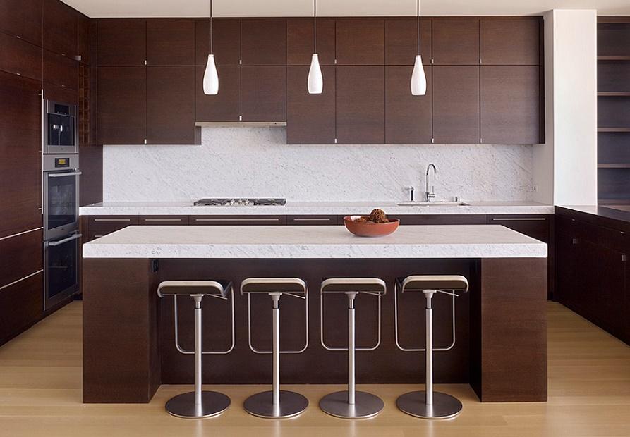 Bucatarie moderna, cu un design minimalist