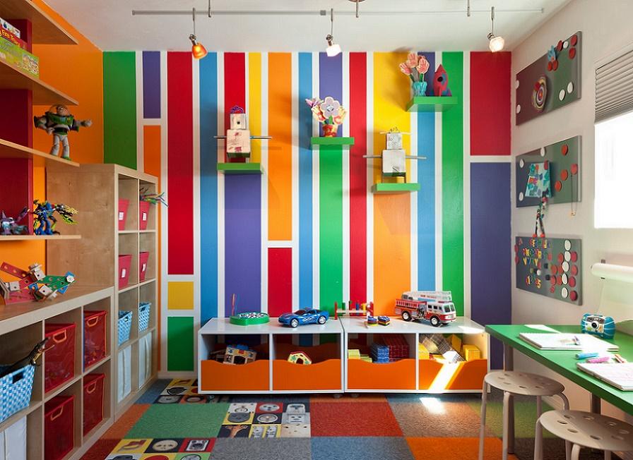 Culori in camera copiilor