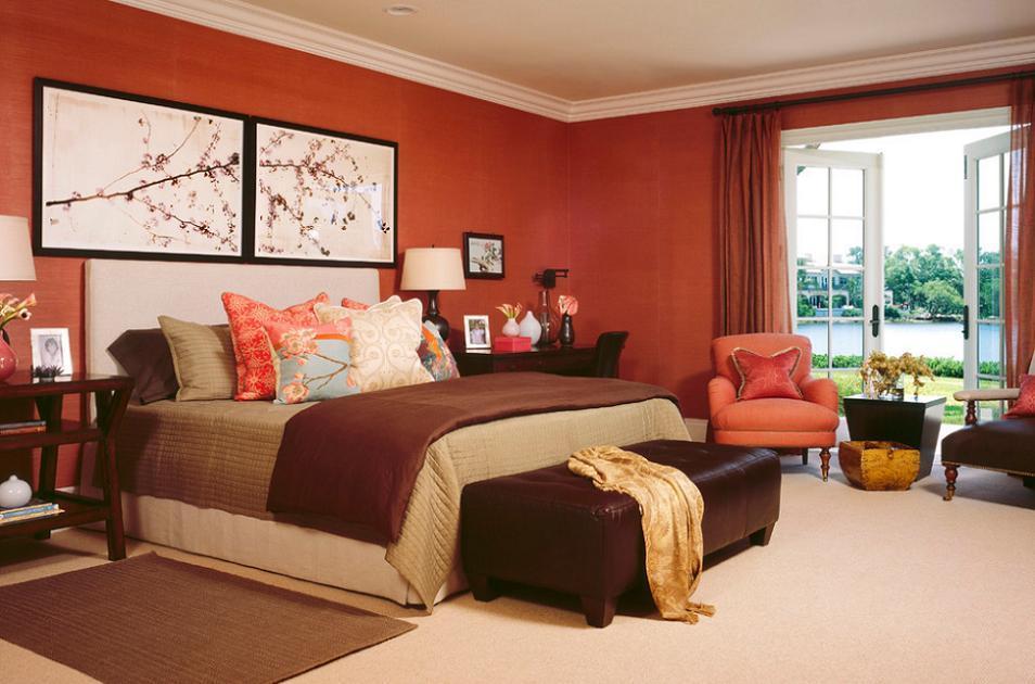Dormitor contemporan, in culori vibrante