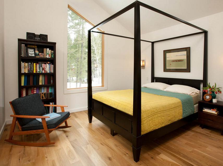 Dormitor modern cu baldachin