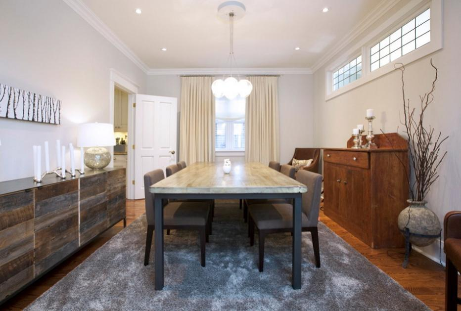 Stil eclectic pentru o sufragerie contemporana