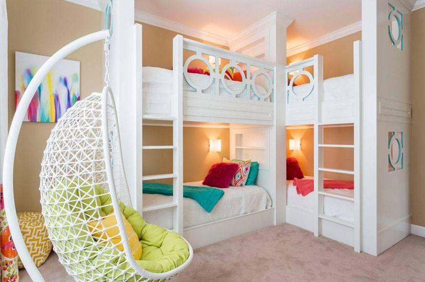 Paturi etajate in camera copiilor