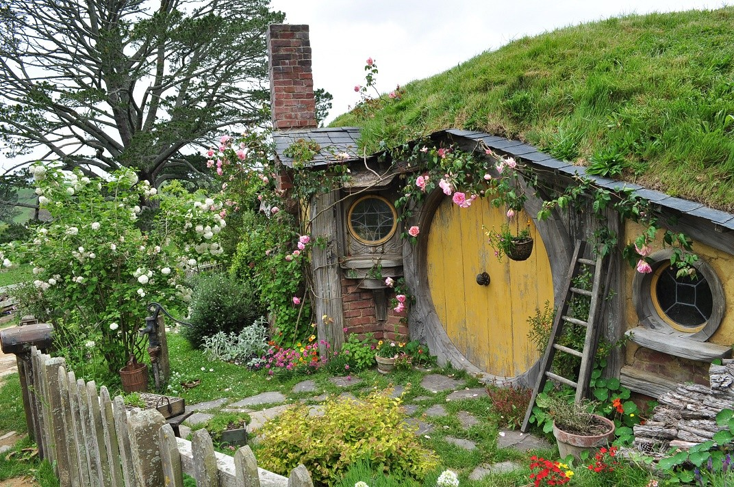 Casutele din satul Hobbiton