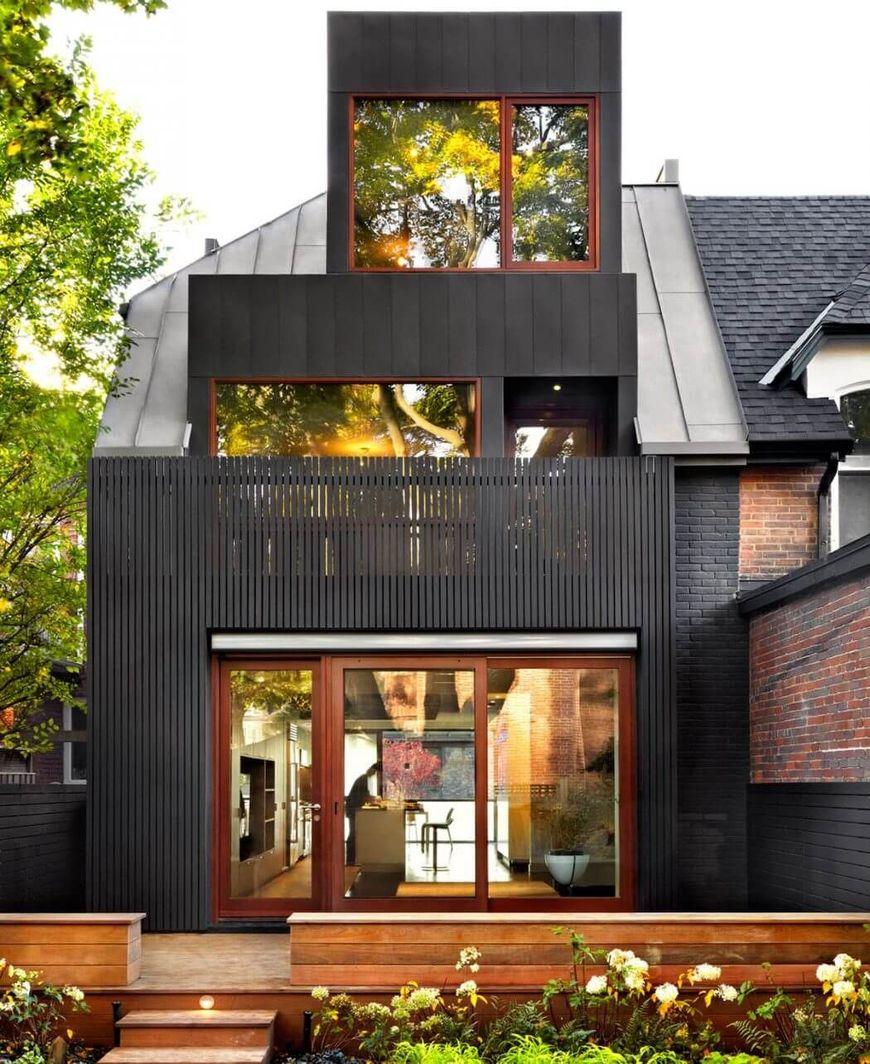 Fatada gradina casa moderna
