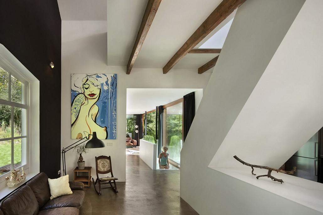 Imagine scara principala Santpoort -  ZEC Architects