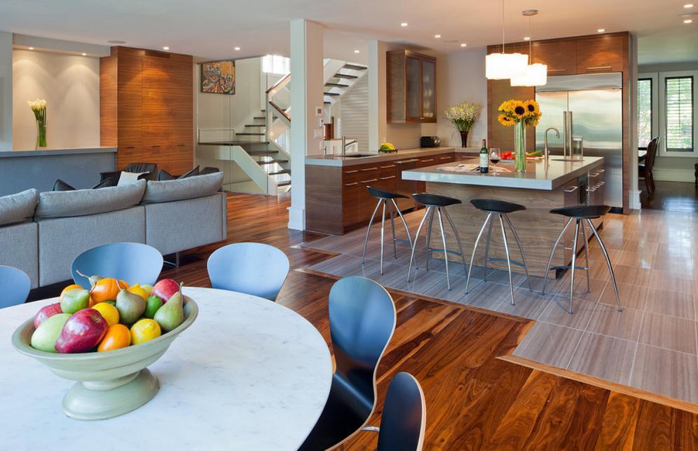Bucataria, inima acestei case moderne