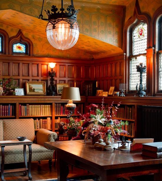 Un decor care releva virtutea bibliotecii, aceea de templu al cunoasterii