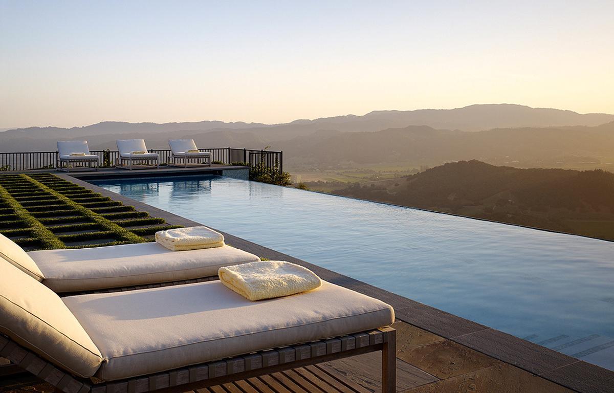Piscina infinita Soda Canyon Residence, BAR Architects