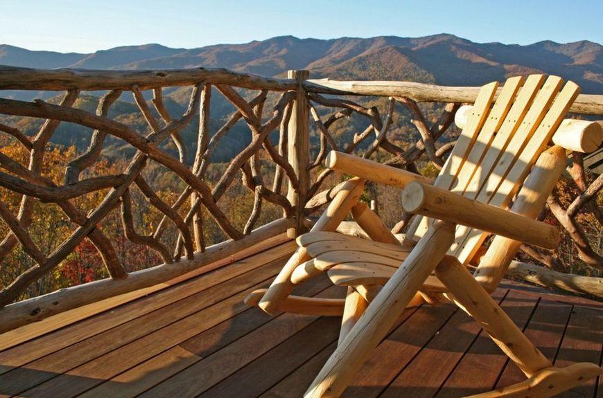 Terasa rustica lemn