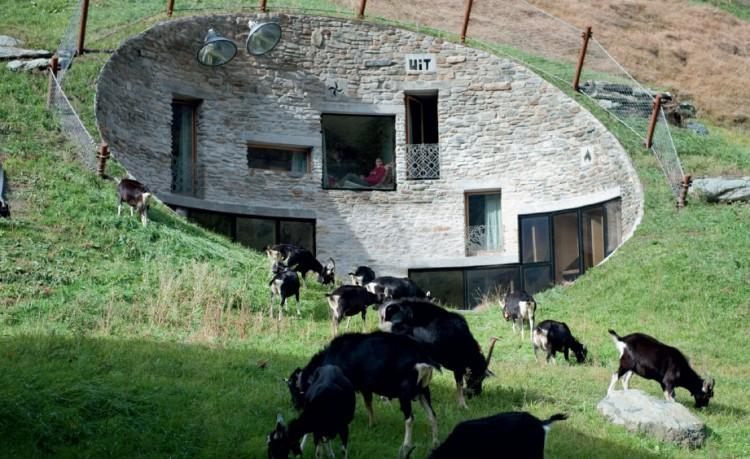 Fatada vila din Alpi