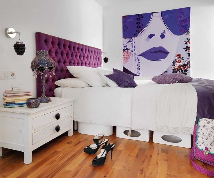 Amenajare moderna, feminina a dormitorului