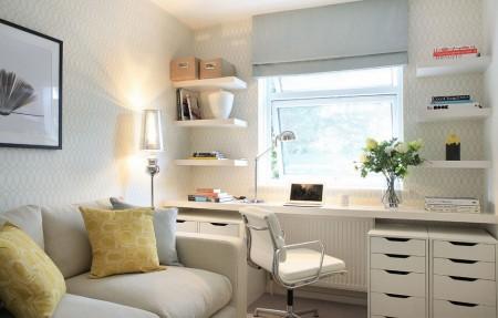 Poze Birou si biblioteca - Obisnuiesti sa lucrezi de acasa? Amenajeaza-ti un birou in living.