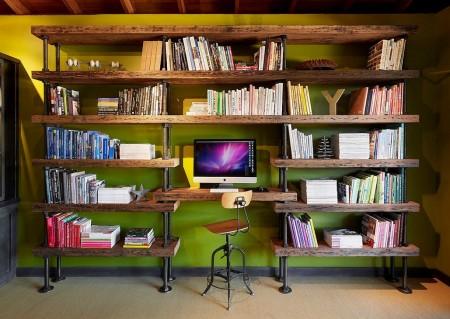 Poze Birou si biblioteca - Decor rustic-minimalist pentru biroul de acasa