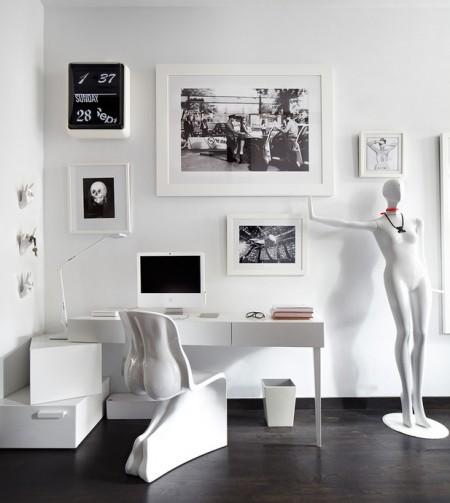 Poze Birou si biblioteca - birou-alb-negru-ultramodern.jpg