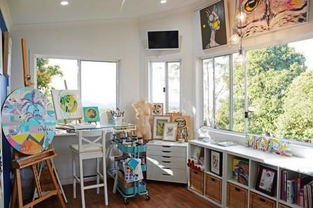 Poze Birou si biblioteca - Atelierul de picrura de acasa