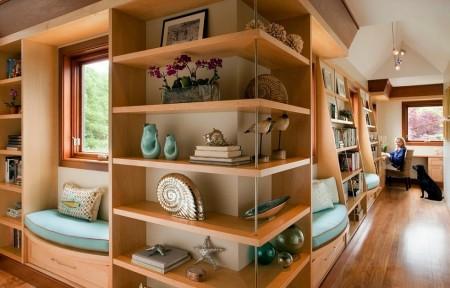 Poze Birou si biblioteca - Birou si biblioteca amenajate modern