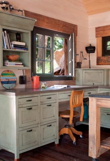 Poze Birou si biblioteca - Birou casa de vacanta montana