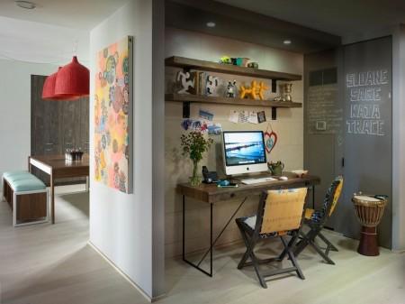 Poze Birou si biblioteca - Un mic birou minimalist