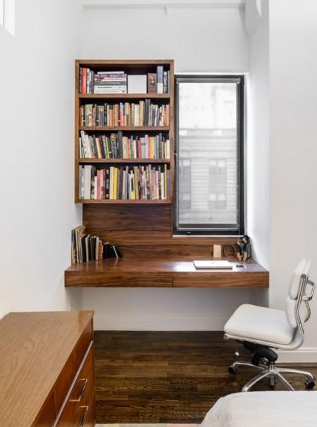 Poze Birou si biblioteca - Decor minimalist pentru micul birou de acasa