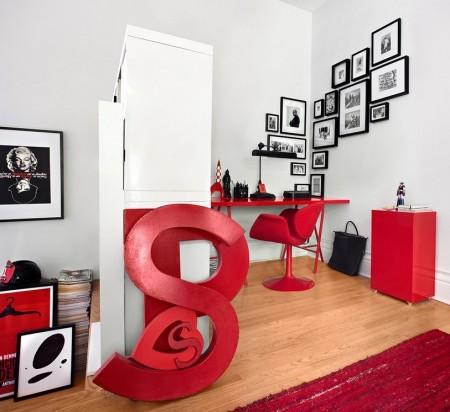 Poze Birou si biblioteca - Decor ultramodern pentru micul birou de acasa