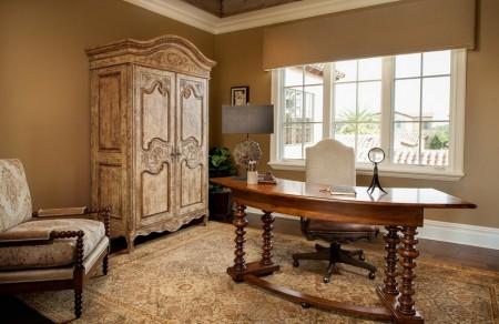 Poze Birou si biblioteca - Eleganta stilului clasic pentru biroul de acasa
