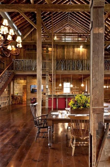 Poze Case lemn - Interior casa din lemn
