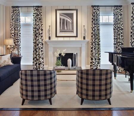 Poze Living - Draperiile, tapiseria mobilierului sau pernele decorative joaca un rol esential in decorarea acestui living