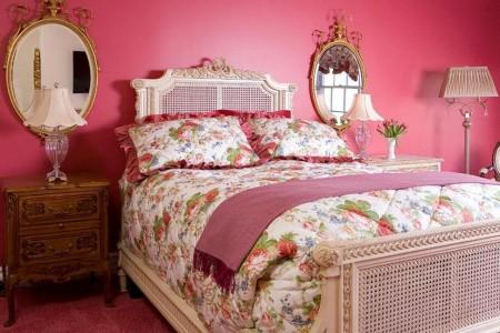 Poze Dormitor - Pat alb, lucrat asemeni unei dantele delicate