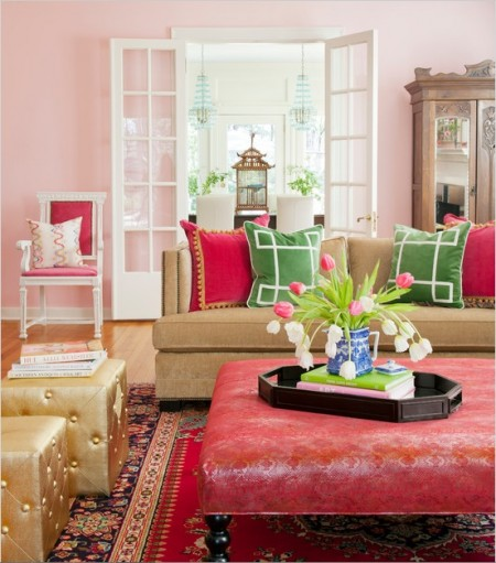 Poze Living - Culori tonice, pentru un decor de primavara