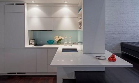 Poze Bucatarie - Bucataria moderna a unui apartament din Manhattan