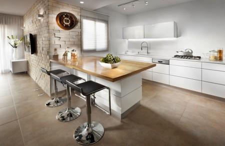 Poze Bucatarie - Bucataria intr-un apartament amenajat modern