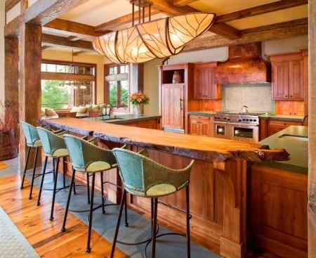 Poze Bucatarie - Stilul rustic in decorarea unei case de vacanta montana