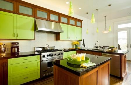 Poze Bucatarie - Bucatarie moderna in culori tonice