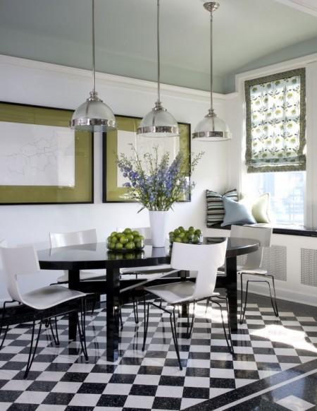 Poze Bucatarie - Bucatarie moderna decorata in alb si negru