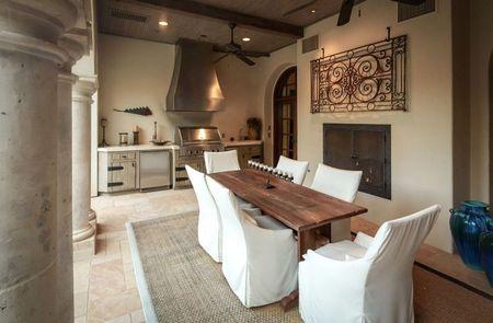 Poze Terasa - Bucatarie de vara casa stil mediteranean