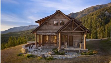 Poze Case lemn - O autentica cabana din lemn masiv