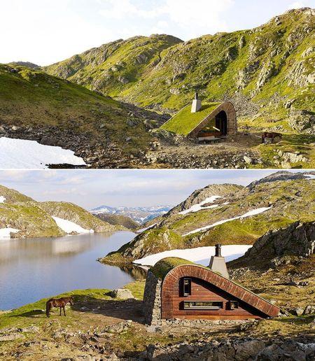 Poze Fatade - Cabana montana perfect integrata in peisajul natural