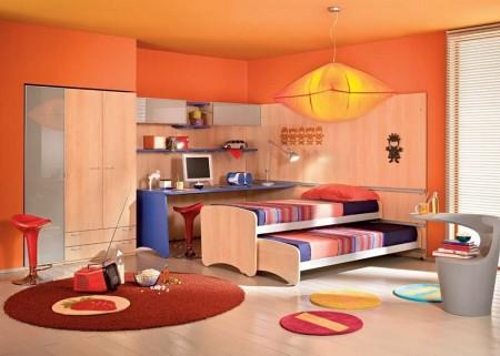 Poze Copii si tineret - Camera pentru copii mobilata si decorata modern