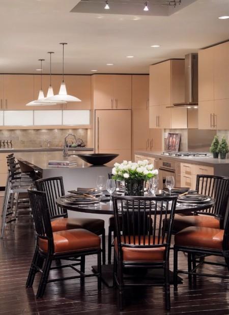 Poze Sufragerie - In locuinta moderna sufrageria si bucataria impart aceeasi incapere