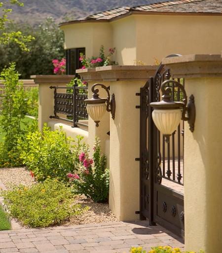 Poze Garduri si porti - Gard si poarta din fier forjat